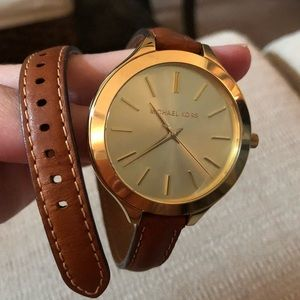 Michael Kors Gold/Leather Watch